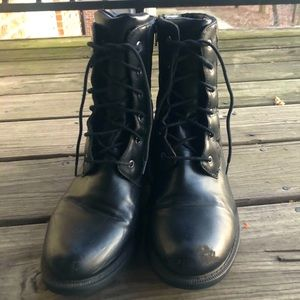 Laced Combat Boots
